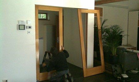 klapdeuren hal woonkamer worden geplaatst
